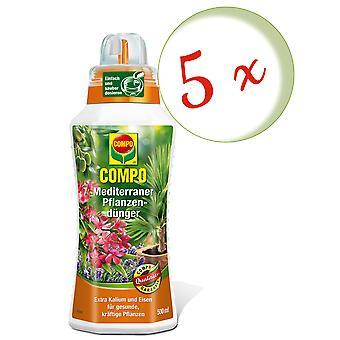 Sparset: 5 x fertilizante vegetal compo mediterrâneo, 500 ml