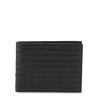 Armani Jeans Original Men All Year Wallet - Black Color 34392
