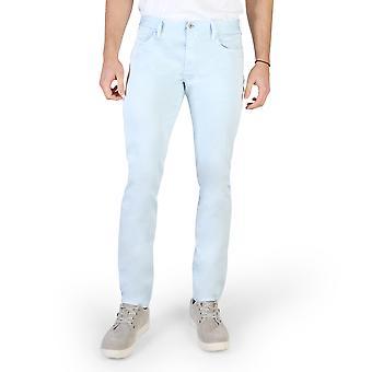 Armani Jeans Original Men Printemps/Été Pantalon Bleu Color - 58301
