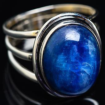 Large Kyanite Ring Size 10.75 (925 Sterling Silver)  - Handmade Boho Vintage Jewelry RING3823