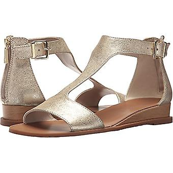 Kenneth Cole New York Womens KLS8033CW Leather Open Toe Casual T-Strap Sandals