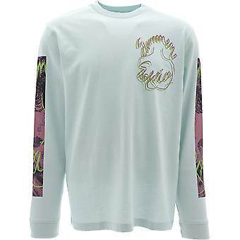 Acne Studios Bl0166powderblue Men-apos;s Light Blue Cotton Sweater