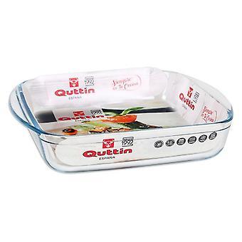 Serving Platter Quttin 1,6 L Crystal Squared (25 X 21,9 x 5 cm)