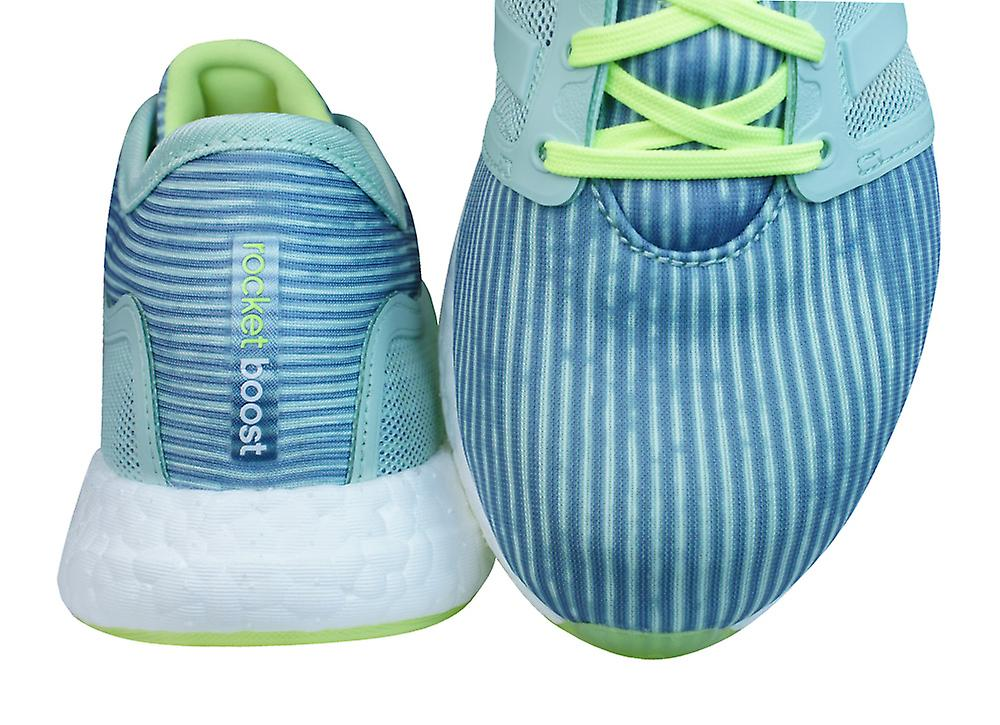 adidas Climachill Rocket Boost Womens Running Trainers / Shoes - Green