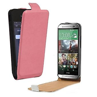 Sony Xperia Z2 - DeLuxe Leather Fodral Flip Case - Rosa