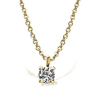 Goldmaid Necklace with Women's Pendant - Yellow Gold 585 - White Diamond - Brilliant - 0.05 Carats