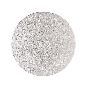 Culpitt 10&;(254mm) Dubbel tjock rund vändkant kaka kort Silver Fern (3mm tjock) - individuellt insvept förpackning med 5