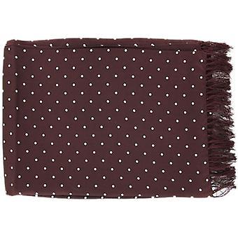 Michelsons af London Polka Dot bred silke tørklæde - Bourgogne