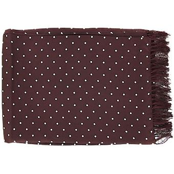 Michelsons of London Polka Dot Broad Silk Scarf - Burgundy