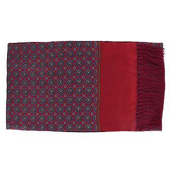 Michelsons London Vintage medaljong silke och ull halsduk - röd