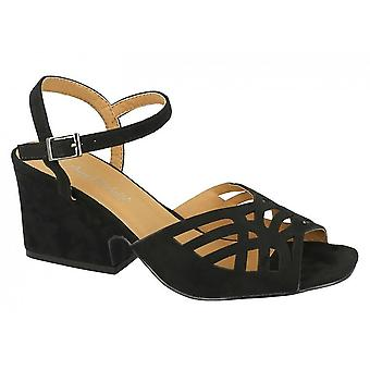 Anne Michelle Womens/Ladies Chunky Heel Cut Out Vamp Shoes