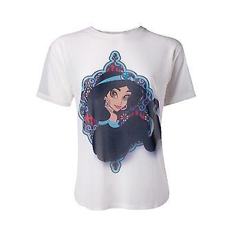 T-shirt oficial Disney Aladdin princesa jasmim feminino