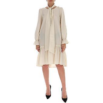 Ballantyne Qld114usr1614022 Women's White Cotton Dress