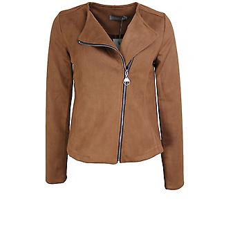 b.young Suede Look Biker Style Jacket