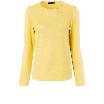 Olsen Yellow Woven Knit Jumper