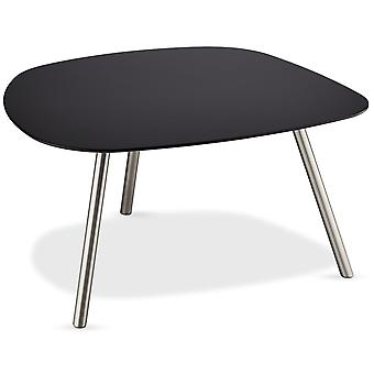 Furnhouse Round Malou Coffee Table Large, Black Top, Metal Legs, 85x77x45 cm