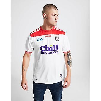 New O'Neills Men's Cork GAA 2019 Away Shirt White