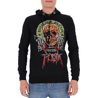 Philipp Plein P20cmjb1932pjo002n02 Men's Black Cotton Sweatshirt