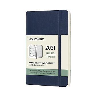 2021 12M Wkly Ntbk Pock Sapphi Blue Soft