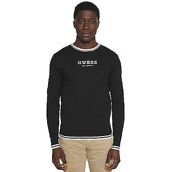 Guess Aaron Crew Neck Sweater - Black-L