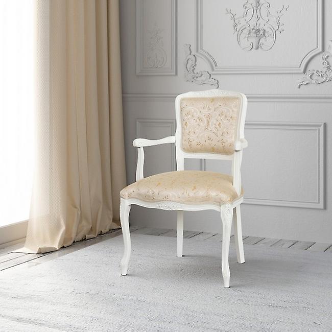 Poltroncina Funmilayo Colore Bianco, Crema in Legno, L55xP50xA85 cm