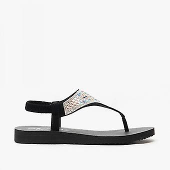 Skechers Meditation - Rock Crown Ladies Sandals Black/multi