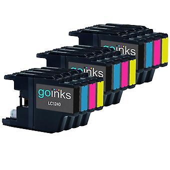 3 készlet tintapatron helyett Brother LC1240 és LC1220 kompatibilis / nem OEM Brother DCP és MFC nyomtatók (12 festék)