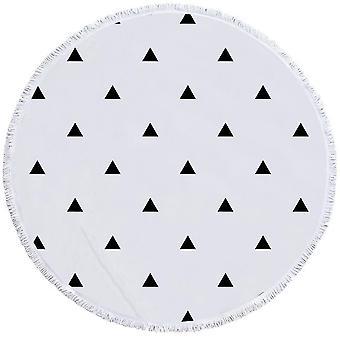 المثلثات السوداء منشفة الشاطئ