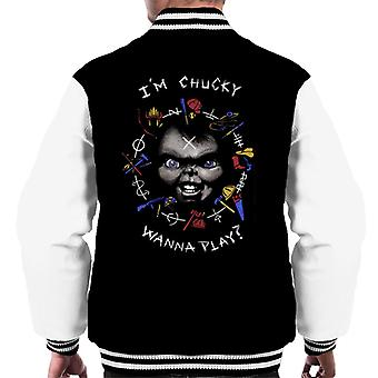 Chucky im Chucky haluavat pelata lainata miesten ' s Varsity takki