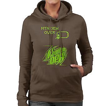 Mountain Dew Retro Arcade Theme Women's Hooded Sweatshirt