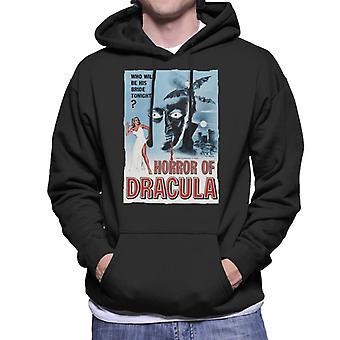 Hammer Horror films Dracula klassieke film poster mannen ' s Hooded Sweatshirt
