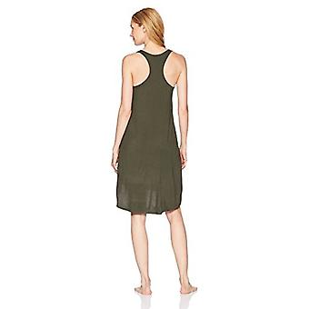 Brand - Mae Women's Sleepwear Long Racerback Nightgown, Forest Green, ...