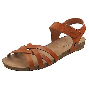 Mustang Single Strap Womens Casual Sandals in Cognac