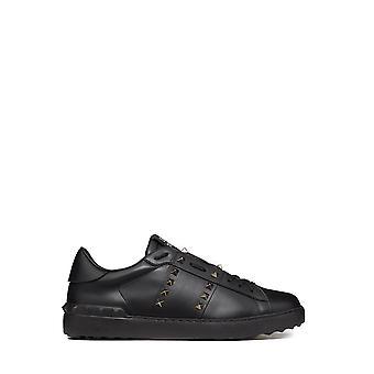 Valentino Garavani Uy2s0931bxe0no Men's Black Leather Sneakers