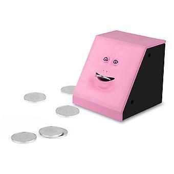 وجه المال الأكل صندوق بنك الخنزير