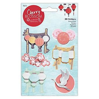 Papermania Cherry Blossom 3D Stickers (6pcs) (PMA 801104)