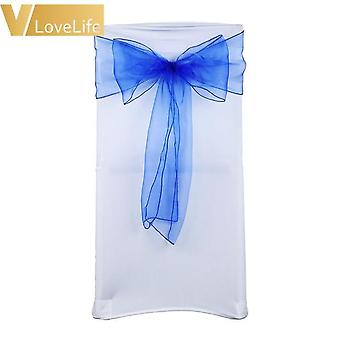 High Quality Organza Chair Sashes, Wedding Chair Knot Cover, Bow Band Belt Ties