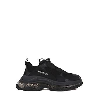 Balenciaga 541624w2fb11000 Heren's Black Fabric Sneakers