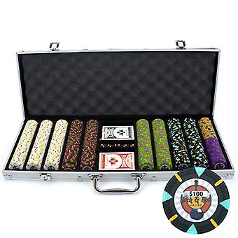 500Ct Claysmith Gaming 'Rock & Roll' Chip Set in Aluminum