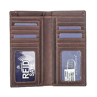 Primehide Mens Leather Jacket Wallet RFID Bloqueando Slim Suit Wallet Gents 2008