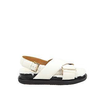 Marni Fbms008701p3387z1i94 Naiset's Valkoinen Nahka Sandaalit
