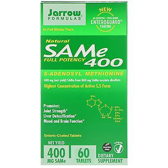 Formules Jarrow, NATUREL SAM-e (S-Adenosyl-L-Méthionine) 400, 400mg, 60 Enteric-