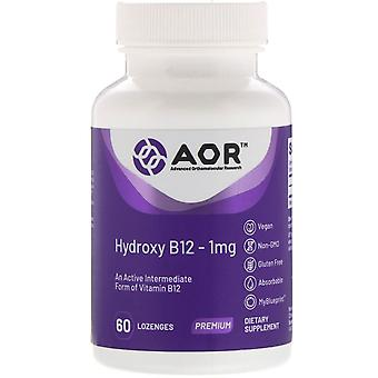 Advanced Orthomolecular Research AOR, Hydroxy B12, 1 mg, 60 Pastilles