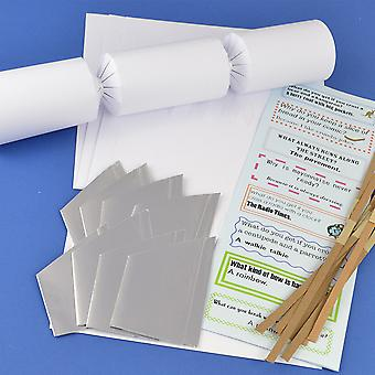 8 Basic White Make & Fill Your Own DIY Recyclable Christmas Cracker Craft Kit