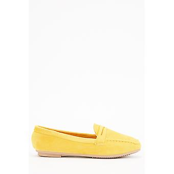 Suedette Detailed Moccasins