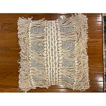 Spura Accueil Traditionnel Confortable Frills Style Beige Oreillers marocains 18x18