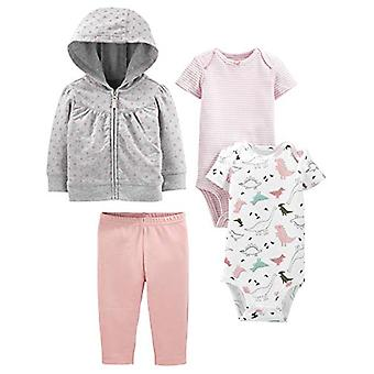 Simple Joys by Carter's Girls' 4-Piece Fleece Jacket, Pant, and Bodysuit Set,...