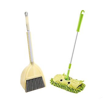 Cleaning Pretend Play Cleaning Set- Children In Kitchen Broom Miniature Utensils Toys For Kids Pretend Play Mops Floor