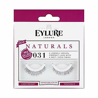 Eylure Naturals Pre Glued Lightweight Black False Lashes - 031 - Easy to Apply