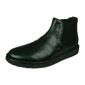 Geox U Pluges B Mens Nappa Cuir Chelsea Boots - Noir